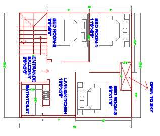 25x30 house plan ground floor plan