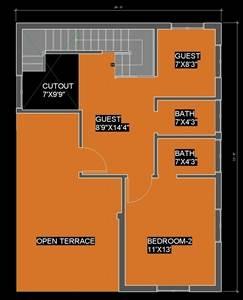 25x33 Ground floor plan Duplex house Plan