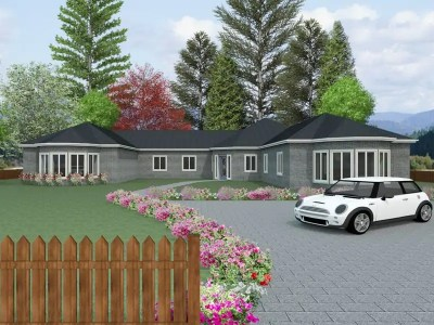 four bedroom bungalow plan