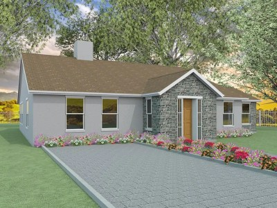 two bedroom bungalow designs