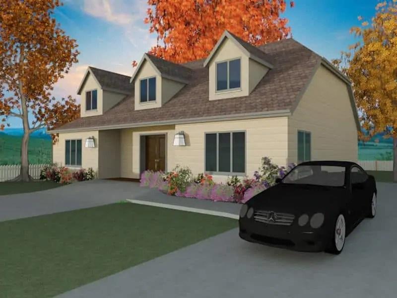 dormer bungalow home plans