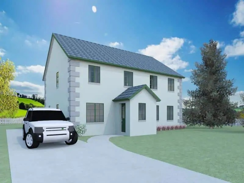 traditional detached house design