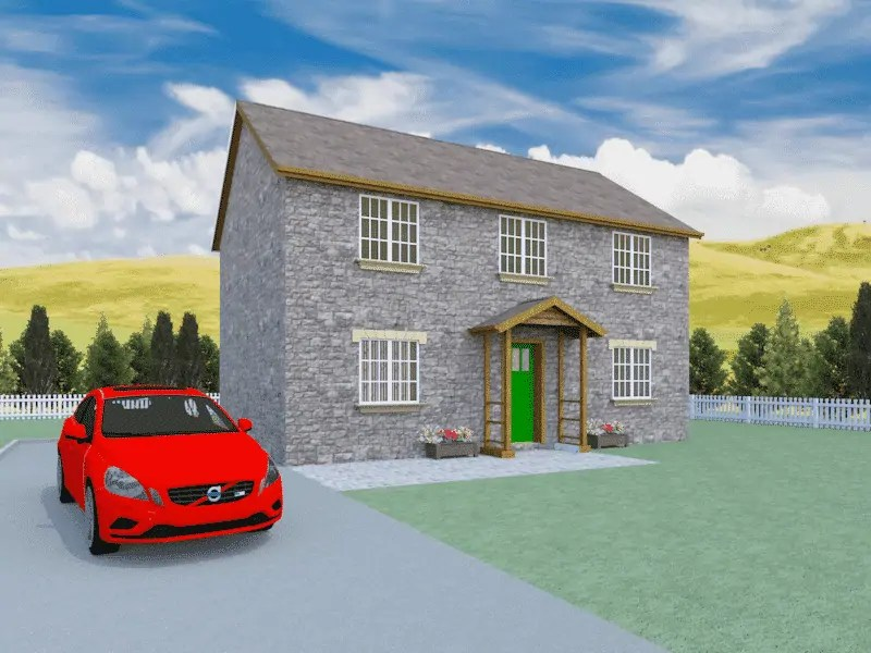 traditional detached house plan
