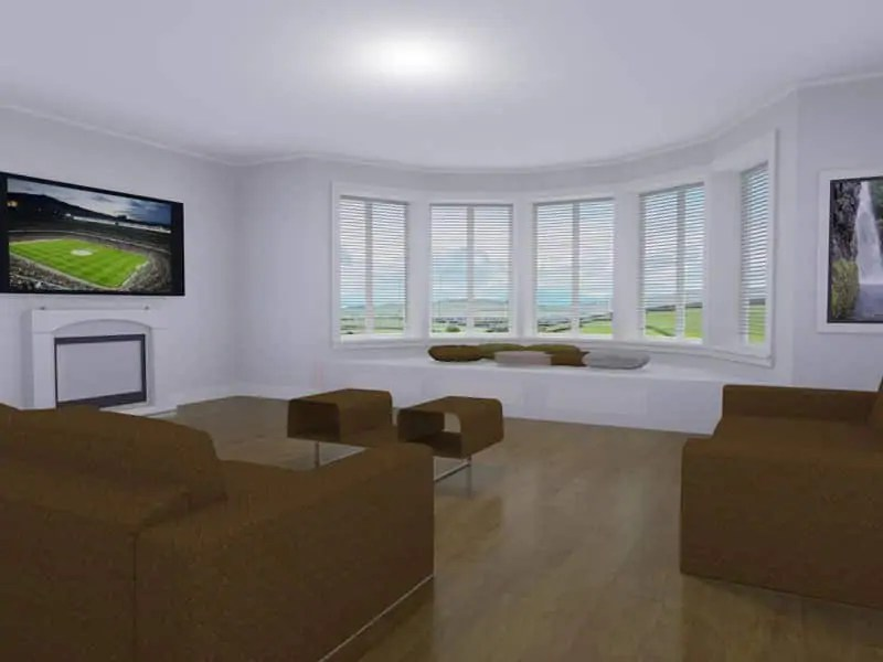 four bedroom bungalow plan