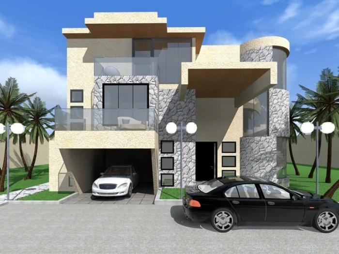 four bedroom villa house plan