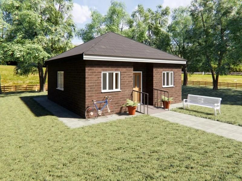 one bedroom bungalow design