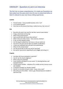 house sitting checklist