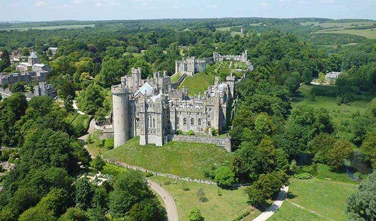 The town of Arundel and its spectacular castle are also worth a visit.