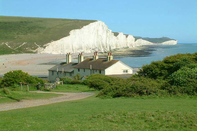 The Seven Sisters white cliffs