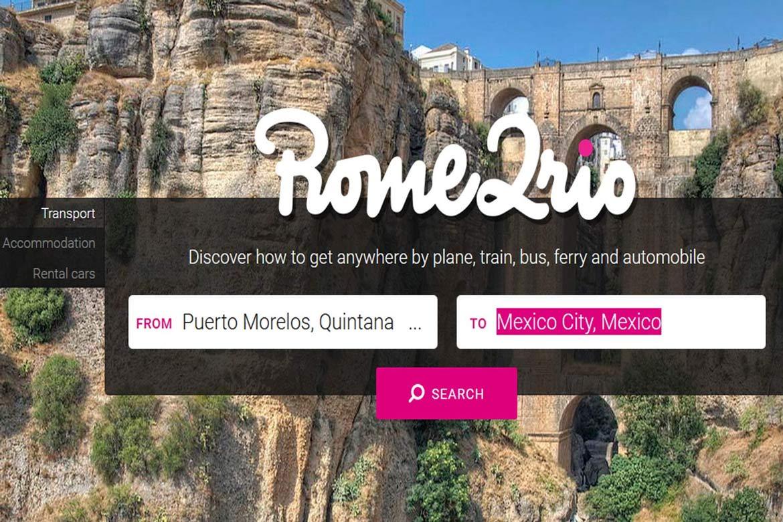 Rome2rio route planning app