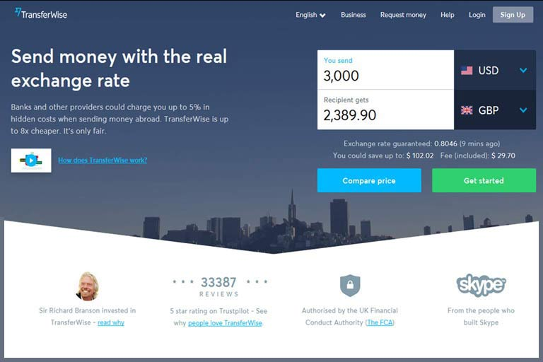 Send money with the real exchange rate - TransferWise