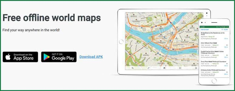 Free offline world maps from Maps.me