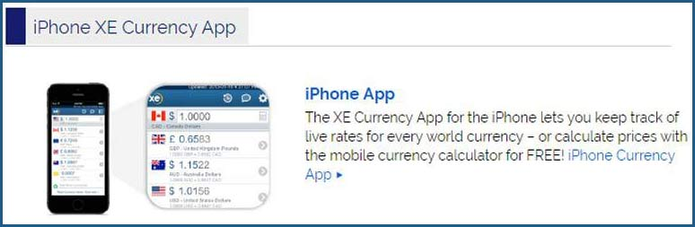 Free currency convertion apps from XE.com