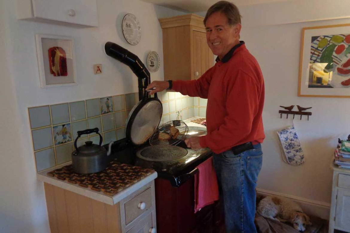 Producing toast on the AGA at a house sit