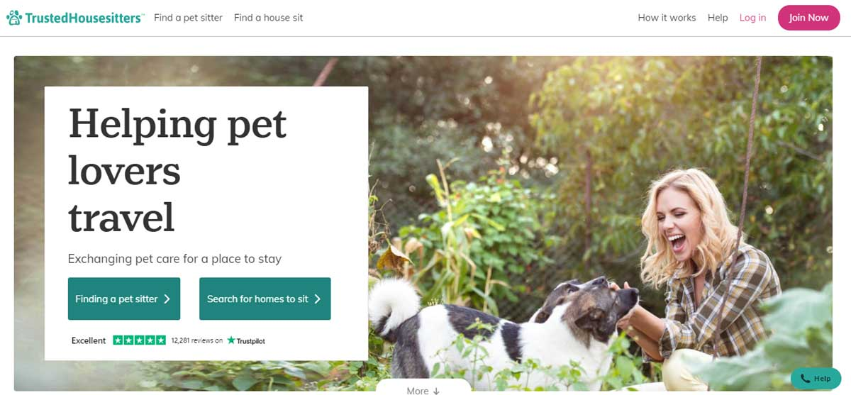 Trusted Housesitters Home Page