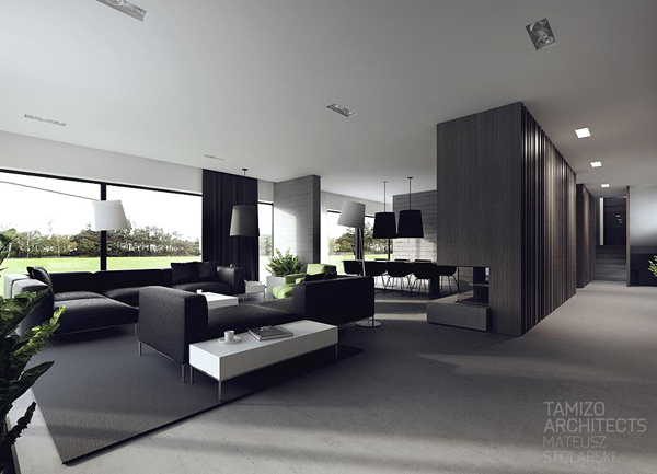 Black And White Interiors By Tamizo Architects