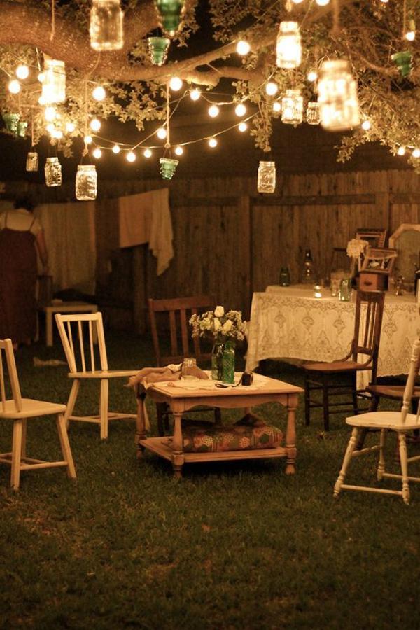 15 Shabby Chic Garden Lighting Ideas