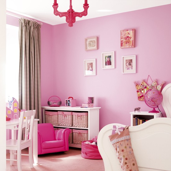 Vibrant pink girl's bedroom | Children's furniture | Pink paint | Image | Housetohome