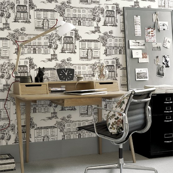 Neutral home office | ideas for neutral decorating | neutral schemes | PHOTO GALLERY | Housetohome