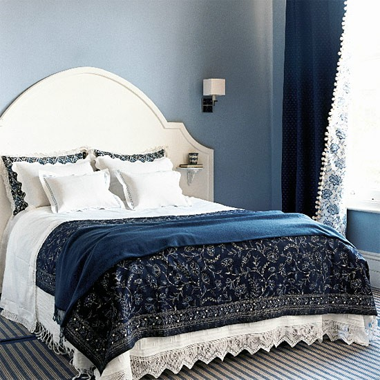 Blue and white bedroom | Bedroom furniture | Decorating ideas | Image ...