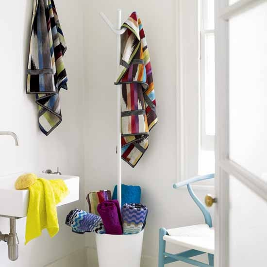 Patterned towels | Bathroom finishing touches | Bathroom accessories | PHOTO GALLERY | Housetohome