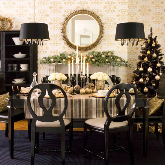 Traditional Christmas Christmas Table Decorating Ideas
