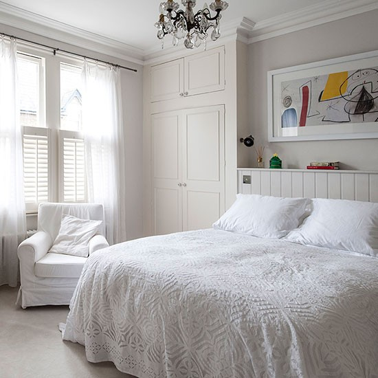 White bedroom with modern artwork | Decorating ...