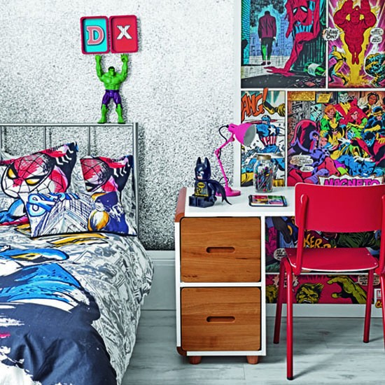 John Lewis children bedroom gallery: Marvel comics bedroom