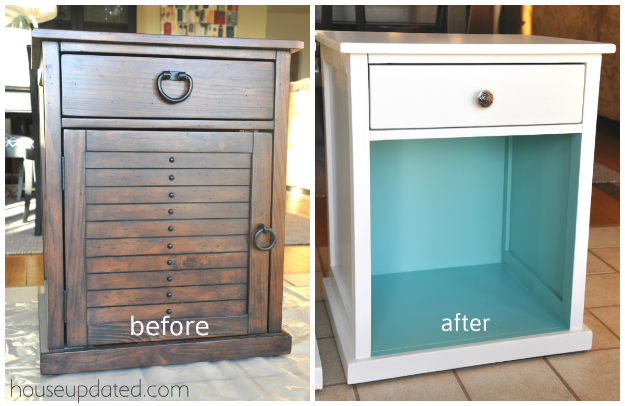 paint white and turquoise furniture
