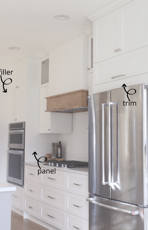 How To Use Filler Panels With Your Ikea, Ikea Kitchen Cabinet Fridge