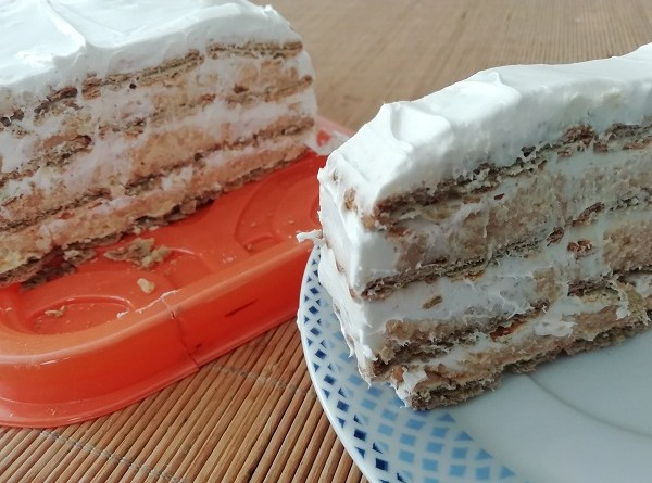 Scheherazade Cake with Double Biscuits ( No Bake Recipe)