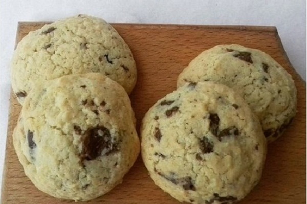 Chocolate Cookies with Almond Flour and Chocolate Chips