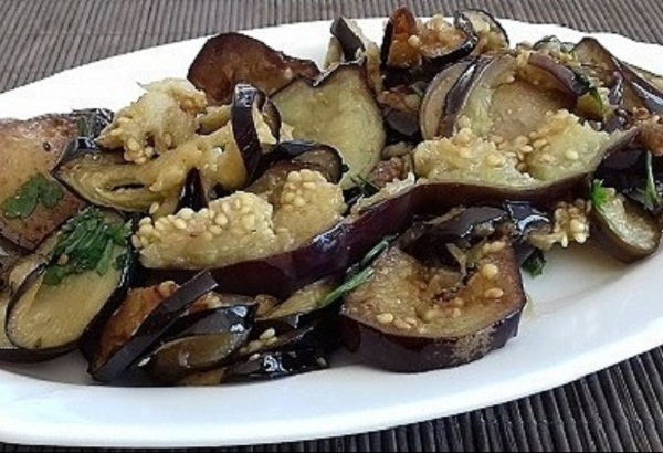 Keto Salad with Grilled Eggplant! Healthy Paleo Recipe