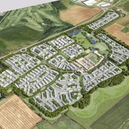 An illustration of how the Seaham Garden Village might look when complete.