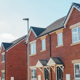 A set of social homes on a street in Yorkshire.