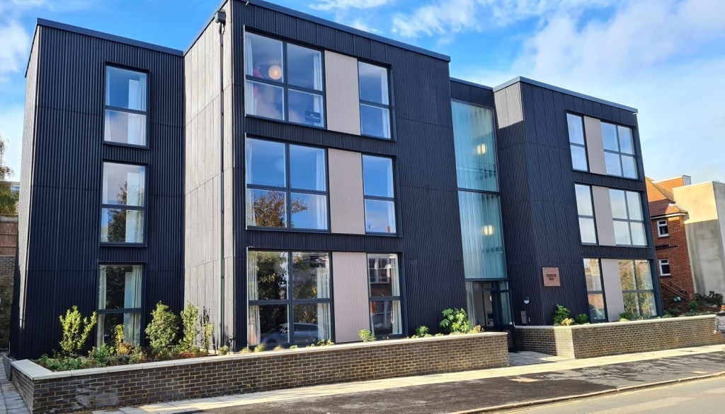 A view of Palmerston House, Lewes District Council's new 13-apartment development in Newhaven, East Sussex.