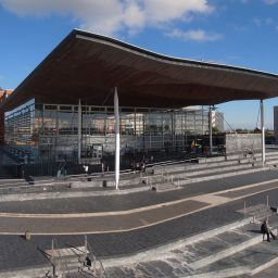 The Senedd building in Cardiff, home of the Welsh Parliament.