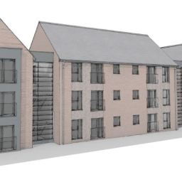 A CGI of Vistry Partnerships and Cross Keys Homes' planned development at Oundle Road in Peterborough.