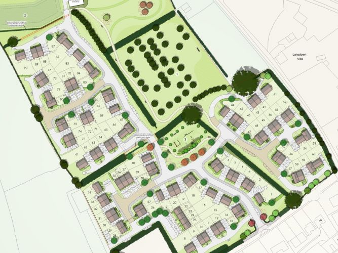 A masterplan of Stonewater's new Hertfordshire development.