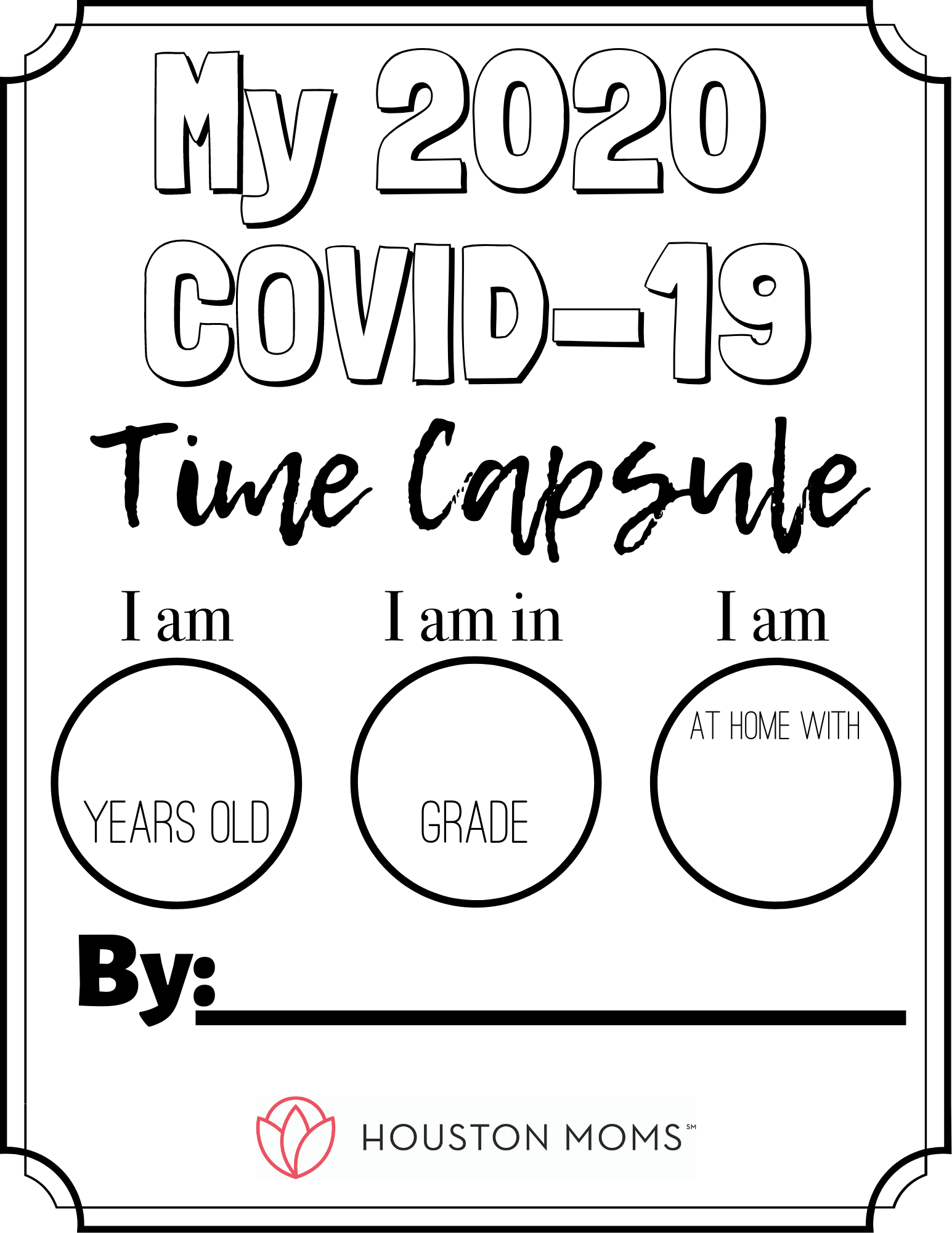 Covid 19 Time Capsule For The Kids