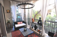 Screened in 2nd floor balcony retreat adjacent to the family room allows you to entertain guests both inside and out. Architectural niches and arched entries grace this home.