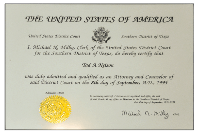 Federal Court Admission