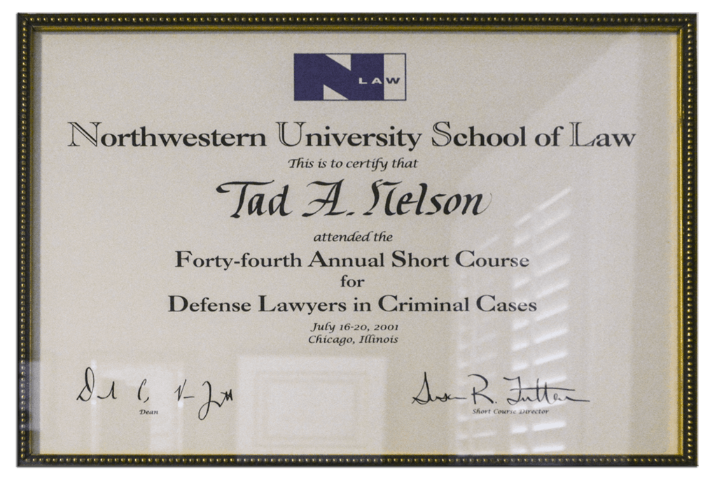 Tad Credentials 07 Defense Lawyers Short Course
