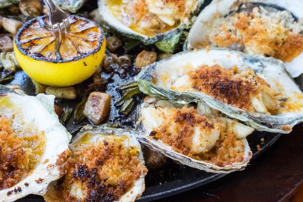 baked oysters at Ninfa's