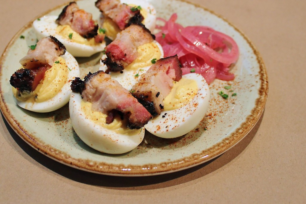 Deviled eggs with pork belly at Delta Blues