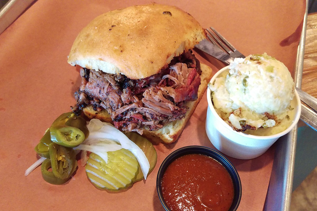 Pinkerton's barbecue sandwich