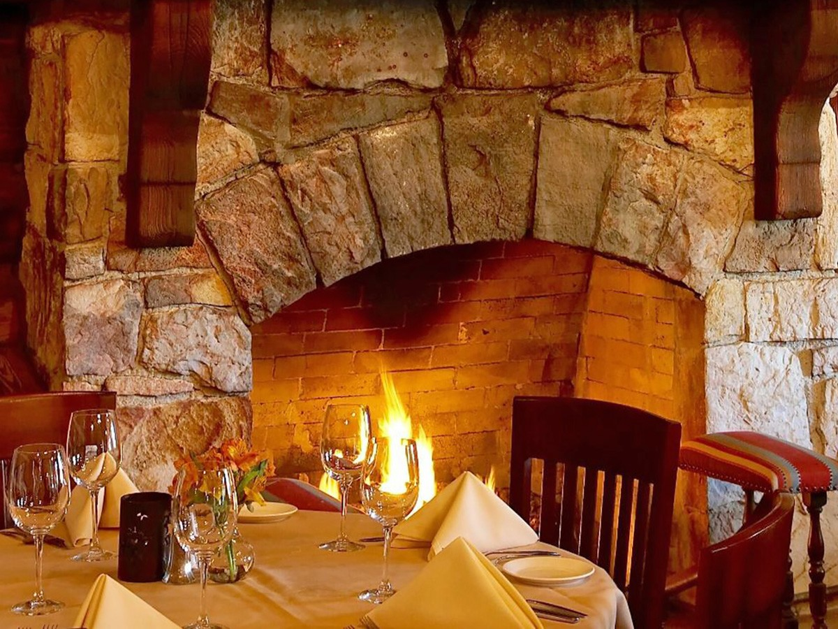 Rainbow Lodge fireplace