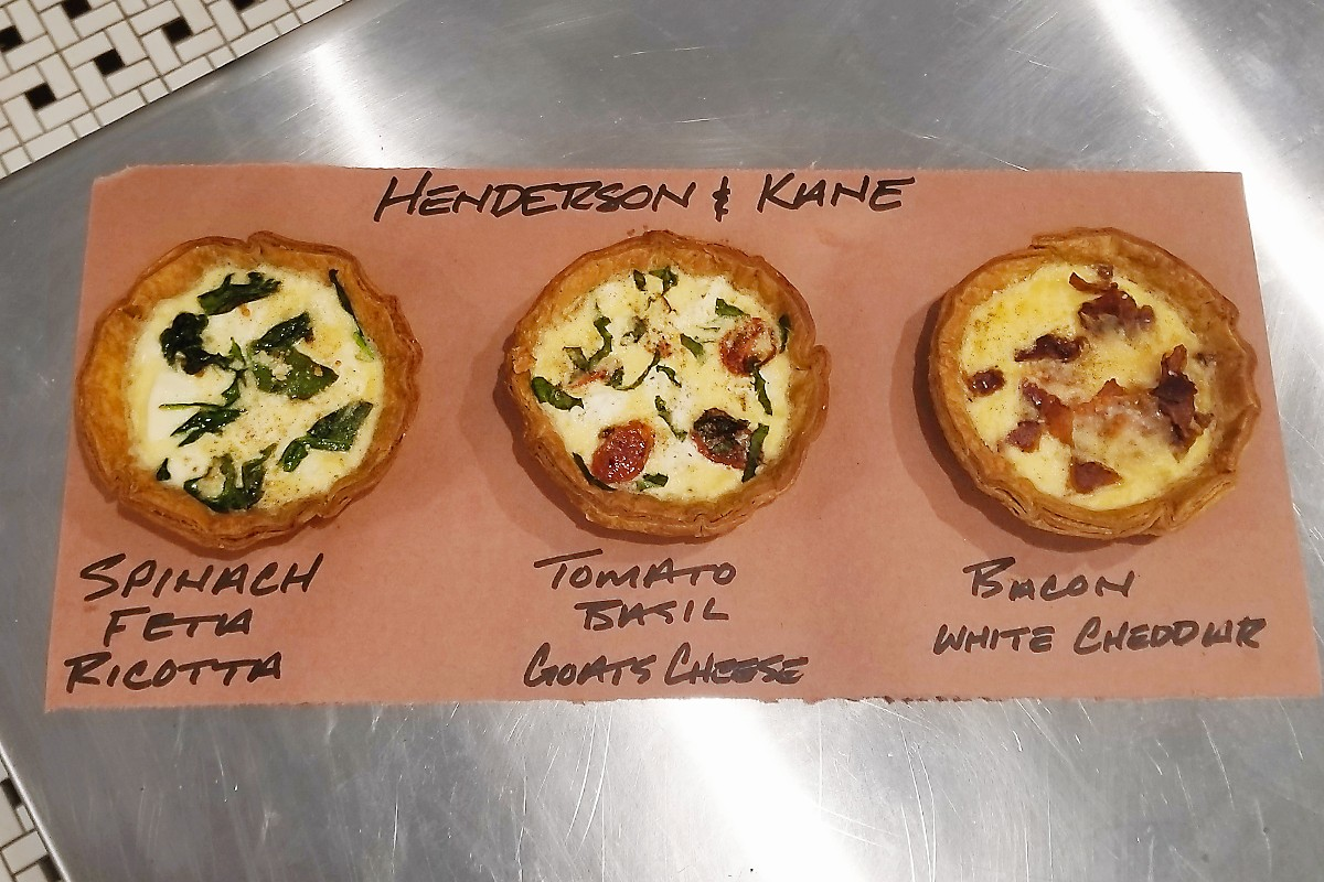 quiches at Henderson & Kane