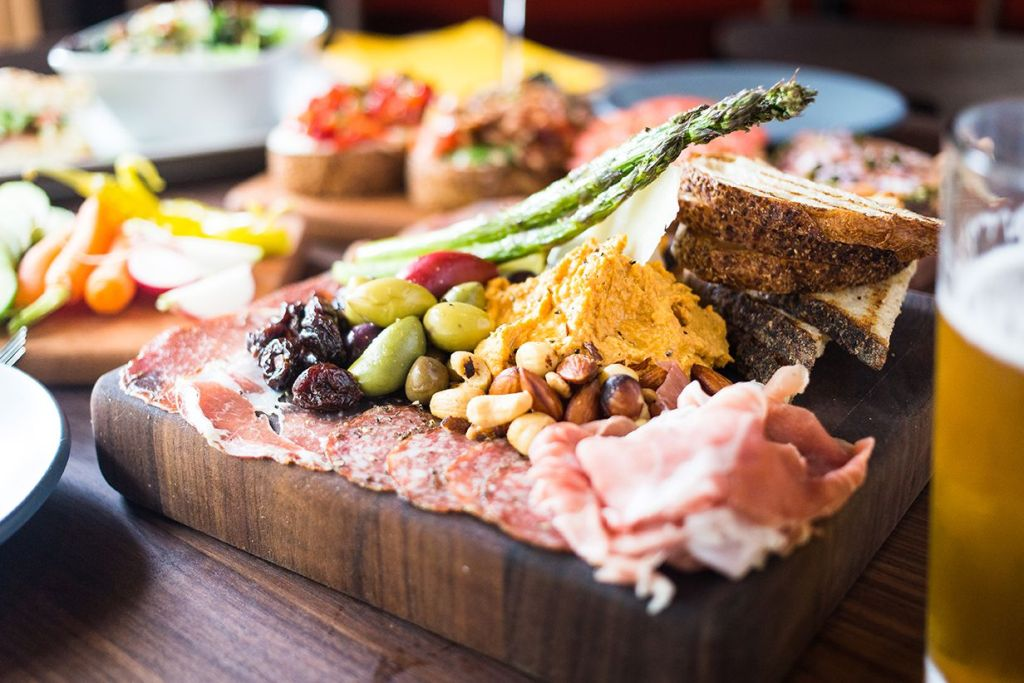 Butcher's Block charcuterie platter at Postino