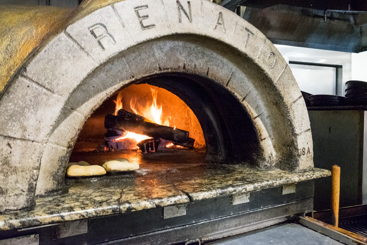 big woodfired oven at Bistro Provence